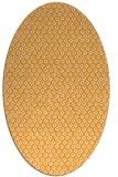 rug #289445 | oval light-orange animal rug