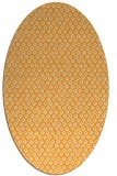 rug #289445 | oval light-orange popular rug