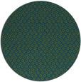 rug #289861   round blue-green animal rug