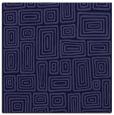 rug #292349 | square blue-violet retro rug