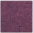 rug #292357 | square blue-violet retro rug