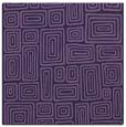 rug #292361 | square blue-violet retro rug