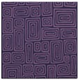 rug #292361 | square purple retro rug