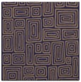rug #292373 | square blue-violet retro rug