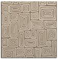rug #292417 | square mid-brown retro rug