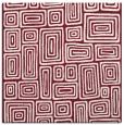rug #292477 | square pink retro rug