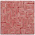 rug #292505 | square red retro rug