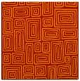 rug #292509 | square orange retro rug