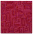 rug #292517 | square red retro rug