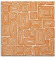 rug #292533   square red-orange retro rug