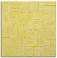 rug #292565 | square yellow retro rug