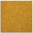 rug #292569 | square yellow retro rug