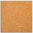 rug #292581   square orange retro rug