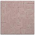 rug #292605 | square pink retro rug