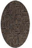 rug #292629 | oval beige rug