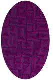 rug #292645 | oval pink rug