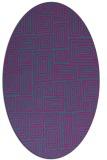 rug #292681 | oval pink rug