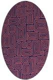rug #292709   oval pink retro rug