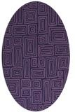 rug #292713 | oval purple retro rug