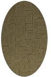 rug #292737 | oval mid-brown retro rug