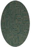 rug #292739 | oval retro rug