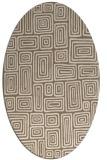 rug #292769 | oval mid-brown retro rug