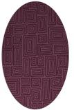 rug #292775 | oval retro rug