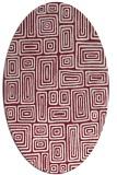 rug #292829 | oval pink retro rug