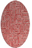 rug #292857   oval red retro rug