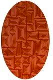 rug #292861 | oval red rug