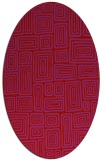 rug #292869 | oval red retro rug