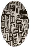 rug #292913 | oval brown retro rug