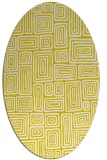 rug #292917 | oval yellow rug