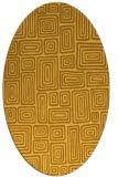 rug #292921   oval light-orange retro rug