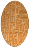 rug #292933 | oval orange retro rug