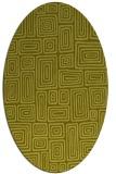rug #292937 | oval light-green rug