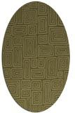 rug #292949   oval light-green rug