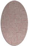 rug #292957 | oval pink retro rug