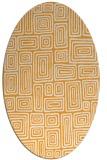rug #292964 | oval retro rug