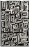rug #292973 |  black retro rug