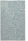 rug #292993 |  blue-green retro rug
