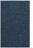 rug #293001 |  blue-green retro rug