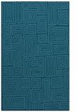 rug #293017 |  blue-green retro rug
