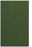 rug #293029 |  blue-green retro rug
