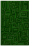 rug #293037 |  green retro rug