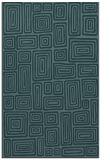 rug #293041 |  blue-green retro rug