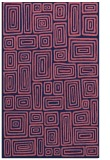 rug #293061 |  blue-violet retro rug