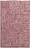 rug #293181 |  pink retro rug