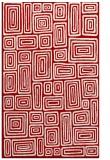 rug #293209 |  red retro rug