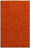 rug #293213 |  red retro rug